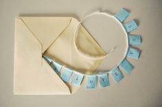 hand lettered mini banner = love note <3