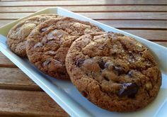 [082512] Dark chocolate-chunk cookies. I added roasted almonds as well. Yum!