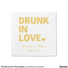 """Drunk in love"" Personalized Golden Wedding"