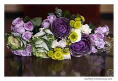 Purple and green bouquet l Southern California wedding