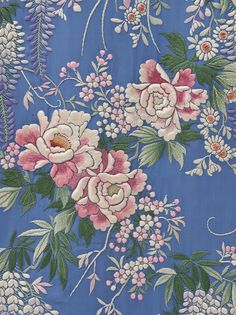 Japanese Embroidery Kimono Woman's Kimono-Style Dressing Gown with Sash Japan for the Western market, late - early century Costumes; ensembles Silk plain weave with silk embroidery - Chinese Embroidery, Sashiko Embroidery, Learn Embroidery, Silk Ribbon Embroidery, Hand Embroidery Patterns, Vintage Embroidery, Embroidery Kits, Floral Embroidery, Machine Embroidery Designs