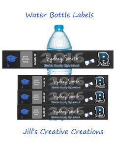 Graduation Water Bottle Lables