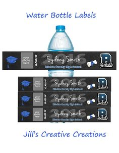 Graduation Water Bottle Lables