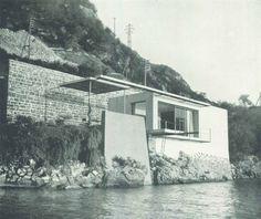 Giulio Minoletti, casa per il fine settimana per uno scapolo, Varenna, 1940 via Domus