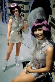 Moonbase personnel, UFO.
