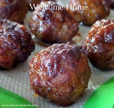 Welcome Home Blog: Pineapple Teriyaki Meatballs