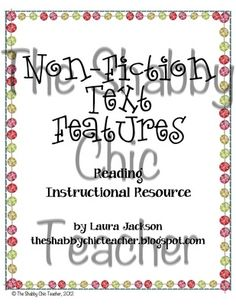 Nonfiction Text Features Unit from TheShabbyChicTeacher on TeachersNotebook.com -  (19 pages)