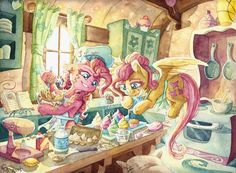 and you count to four and you never get your fill. . .uhhh. . . Another watercolor commission for . An exclusive first look at Andrea Libman's new cooking show. I'm really enjoying these warm, chee...
