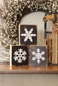 Winter Mantel and Wi