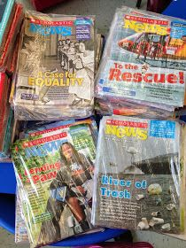 What To Do With Your Extra Scholastic News Magazines. Fabulous ideas esp. for centers--grammar hunts, text feature, etc.