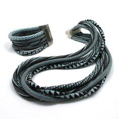 Jacqueline Lillie, 'Neckpiece and Bracelet | Black and Blue,' 2008, Sienna Patti Contemporary