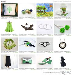 Bandie Girl's unique Etsy Finds - home decor, handmade jewelry, vintage and modern.