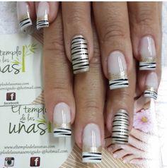 A Cute Nail Polish, Cute Nails, Simple Nail Designs, Nail Art Designs, Silver Glitter Nails, Almond Nails Designs, Crazy Nails, Pretty Nail Art, Nail Decorations