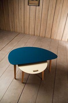 table basse vintage laqueé