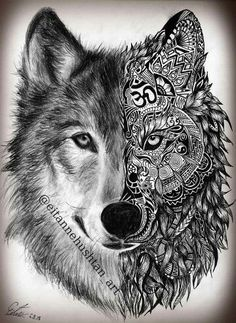 Stunning Wolf Tattoo design