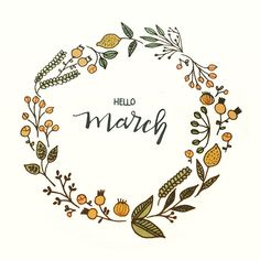 Hello March! Can't wait for spring to finally arrive. #surelysimple #surelysimplelettering #surelysimplechallenge #handlettering #wreath #doodle
