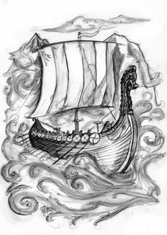 viking ship tattoo - Google Search