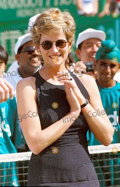 April 23, 1995:  Diana, Princess of Wales at the Salem Tennis Final in Hong Kong.  Photo By:dave Chancellor-alpha-Globe Photos, Inc