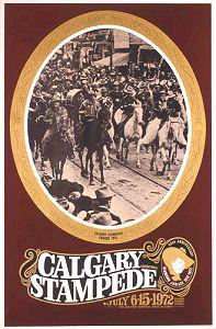 Original Calgary Stampede Poster, Alberta,Canada.