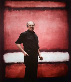 "Mark Rothko in front of his painting ""No.7"", 1960."