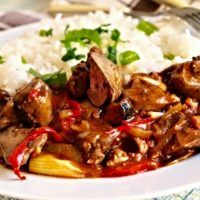 Recept : Lehce pikantní kuřecí játra | ReceptyOnLine.cz - kuchařka, recepty a inspirace Beef, Cook Books, Meals, Cooking, Recipes, Meat, Kitchen, Meal, Recipies