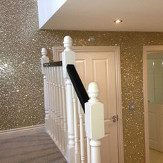 One Glitter wall. For closet or vanity room.