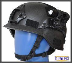 PASGT Bulletproof Helmet Tactical Helmet, Helmet Design, Flashlight, Seal, Military, Sport, Outdoor, Black, Survival Kit