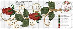 Cross Stitch Rose, Cross Stitch Borders, Cross Stitch Flowers, Cross Stitch Designs, Cross Stitching, Cross Stitch Embroidery, Hand Embroidery, Cross Stitch Patterns, Applique Patterns