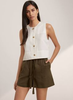 noabat Womens Summer Vest Tops Loose Casual Vneck Chiffon Button Down Sleeveless Shirts Blouse