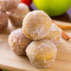Baked Apple Cider Donut Holes Recipe Desserts, Breakfast and Brunch ...