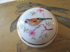 French Limoges Porcelain Bird Branch Lidded by MaisonettedeMadness