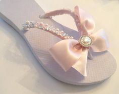 bae3b85134c0c1 Wedding Flip Flops Wedges Shoes.BRIDAL Flip Flops.Blush Bridal Shoes