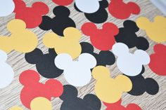 Mickey Mouse Head Confetti table scatter by Littlebitslane on Etsy