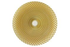 """Ege 13"""" Gold Chargers, Set  of 2"""