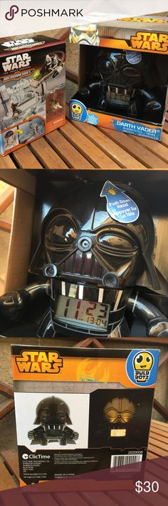 Star Wars Darth Vader Alarm Clock + Micro Machines Perfect Fan Pack gift - Price is for all items in picture Both Items are new in package  Smoke and pet free environment Happy to answer any questions or provide more images  Thanks for looking and Happy Poshing! Star Wars Other