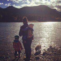 #Babywearing hiking family #middlelake #camping #geocaching