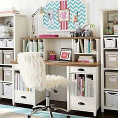 get this desk for two tone wood-coordiantes with bookcase but wood top for long term durability/no marks.  on sale.  no hutch needed- pbteen.com Chatham Large Pedestal Desk