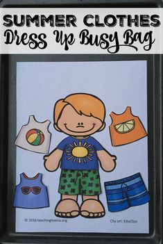 Summer Clothes Dress Up Busy Bag {Free Printable}
