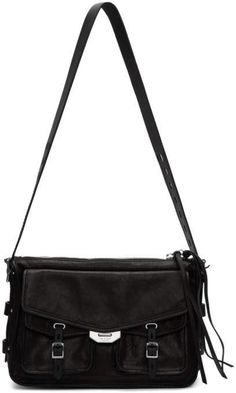 rag and bone Black Field Messenger Bag Best Purses, Rag And Bone, Jacket Style, Messenger Bag, Bones, Stuff To Buy, Accessories, Collection, Black