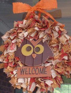 My Fall Rag Wreath..