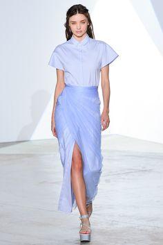 Falda azul de alta costura de la firma Vionnet