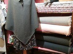 Châle avec col en jersey matelassé