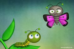 Caterpillar & Butterfly