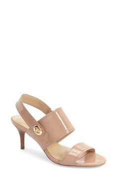 Coach 'marla' Slingback Sandal (women) In Warm Blush Patent Leather Leather Sandals, Patent Leather, Slingback Sandal, Pumps, Heels, Cotton Style, Summer Shoes, Ankle Strap, Nordstrom