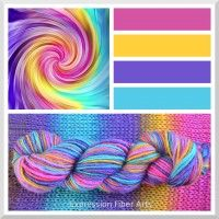 """RAINBOW TWIST - Color Shifting """"Spectrum"""" Wool Worsted Wt Yarn - 175 yd/100 g"""