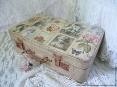 Просмотр сообщения - Inbox Mail Decoupage Suitcase, Decoupage Box, Decoration Shabby, Vintage Suitcases, Make A Case, Vintage Crafts, Easy Diy Crafts, Sewing Crafts, Craft Projects