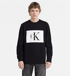 f56aa984 CALVIN KLEIN JEANS Logo Sweatshirt - CK BLACK / BRIGHT WHITE - CALVIN KLEIN  JEANS LOGO SHOP - main image