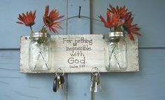 Mason jar wall decor Christian wall hanging by HeavenlyTreasuresLG, $32.00