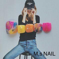 フット早割キャンペーン‼︎10分間の足裏角質ケア付き‼︎6500yen‼︎ ネイルデザインを探すならネイル数No.1のネイルブック Pedicure Nail Designs, Toe Nail Designs, Pedicure Nails, Manicure, Asian Nail Art, Asian Nails, Pop Art Nails, Toe Nail Art, Pretty Toe Nails