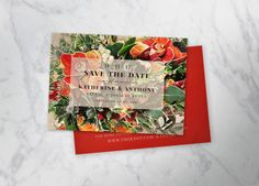 FALL FLORAL   save-the-date cards by fatcatempire on Etsy